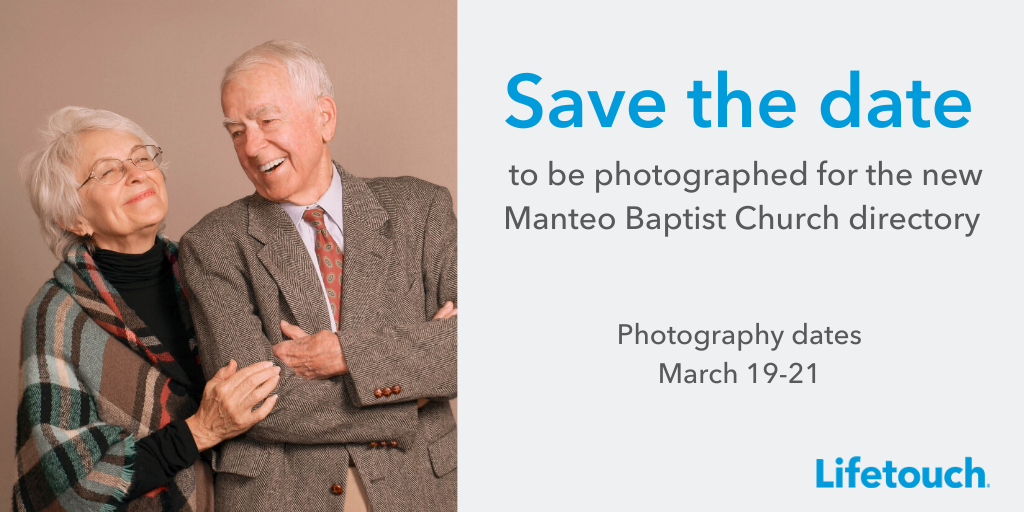 Save the date to be photographed for the MBC directory