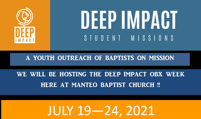 Deep Impact 2021, July 12-16